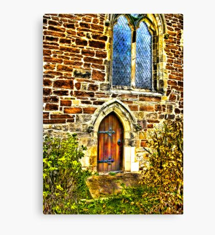 Church Door and Window Canvas Print