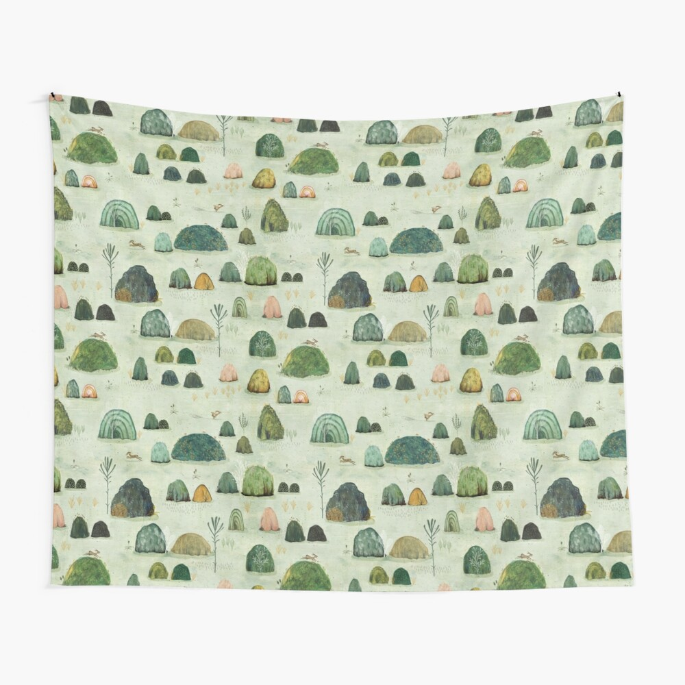 Mossy Hills Wall Tapestry