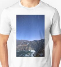 Star trails over Sliabh Liag Unisex T-Shirt