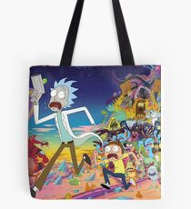 Rick And Morty..........And Monsters Tote Bag