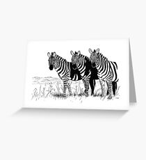 Their World in Black and White Greeting Card