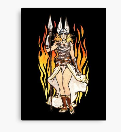 brunhilde pin-up Canvas Print