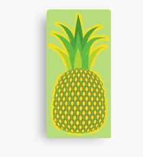 Pineapple Yellow Tropical Fruit Summer Canvas Print