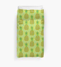 Pineapple Yellow Tropical Fruit Summer Duvet Cover
