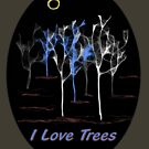 I love Trees - T-shirt by steppeland
