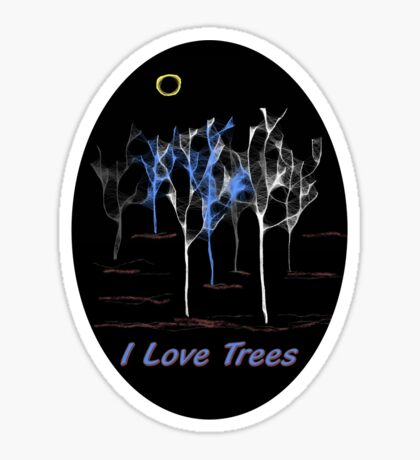 I love Trees - T-shirt Sticker