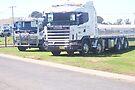Scania (YOQ 293) and Isuzu (817 TT) tilt-trays by Joe Hupp