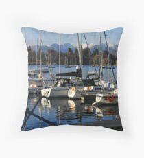 Bowness Boats Throw Pillow