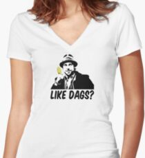 Like Dags? Women's Fitted V-Neck T-Shirt