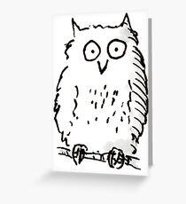 Big Owl print Greeting Card