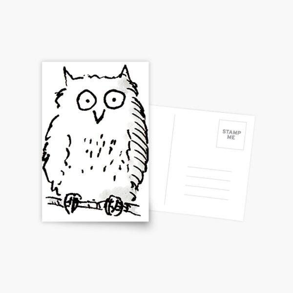 Big Owl print Postcard