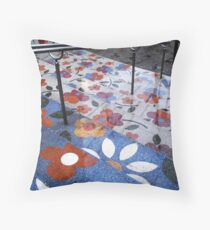 Flowers for a rainy day Throw Pillow