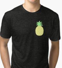 Pinapple Pattern Tri-blend T-Shirt