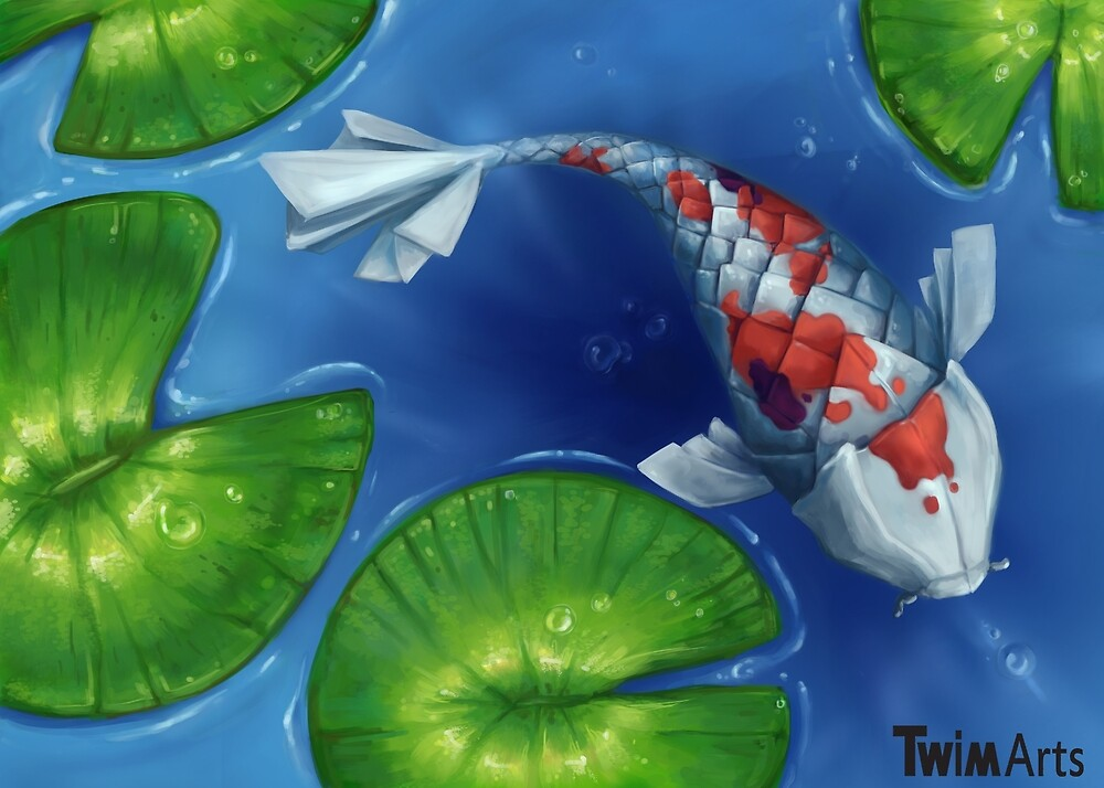 A paper koi by TwimArts