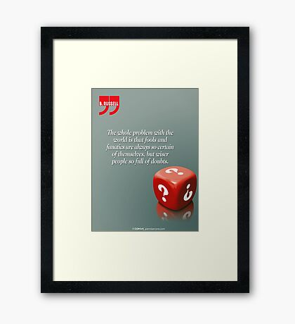Doubt With Intelligence (Quotation) Framed Print