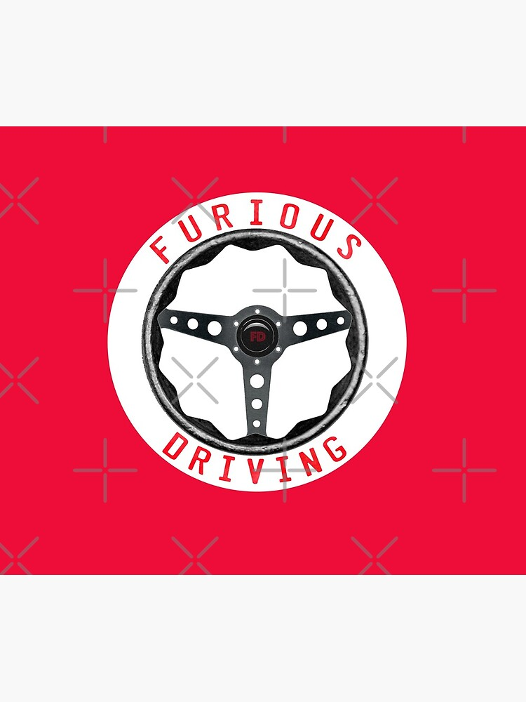 Furious Driving logo - White racing number circle background by matt145qv
