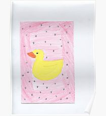 Baby girl rubber Ducky Poster