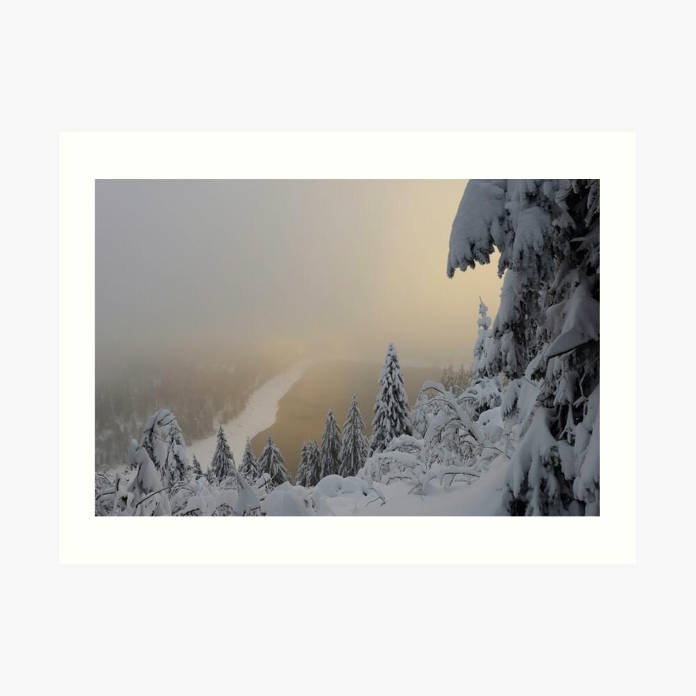 Lac Blanc en hiver, Impression artistique