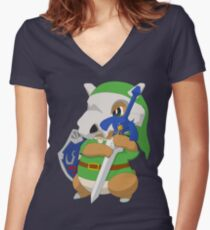 Cubone's cosplay Women's Fitted V-Neck T-Shirt