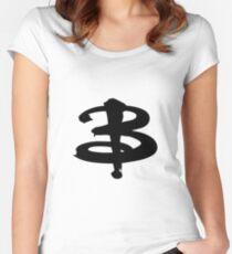 Buffy The Vampire Slayer 'B' v3.0 Women's Fitted Scoop T-Shirt