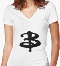 Buffy The Vampire Slayer 'B' v3.0 Women's Fitted V-Neck T-Shirt