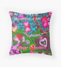 At the Heart of the Matter is Love (Scribbler) Throw Pillow