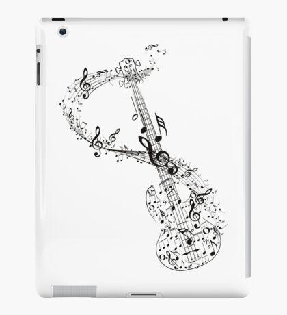 Gitarre und Musiknoten iPad-Hülle & Klebefolie