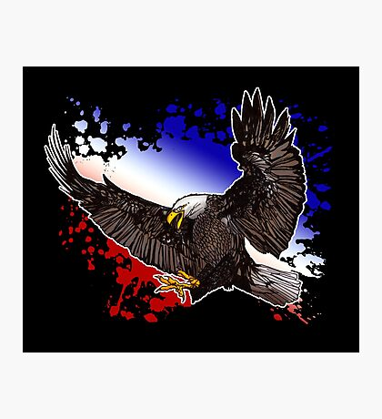 Bald Eagle - Red, White & Blue (2) Photographic Print