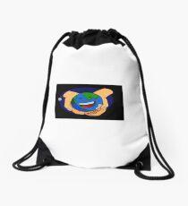 Small world Drawstring Bag