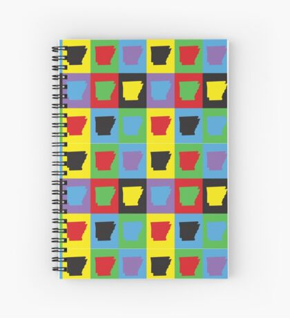 Pop Art Arkansas Spiral Notebook