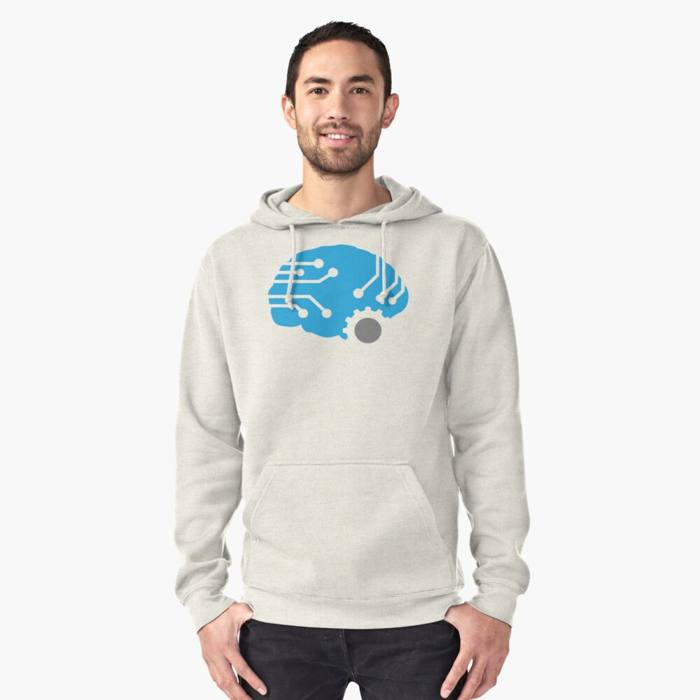 Meat.Space Brain Pullover Hoodie Front