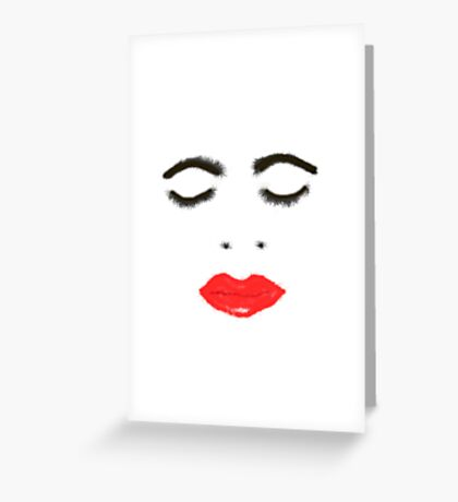 Scribbler Face  Greeting Card