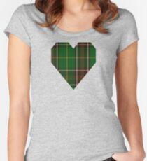 00114 Newfoundland District Tartan  Women's Fitted Scoop T-Shirt