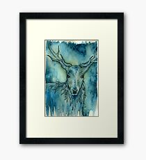 Nightmare Stag Framed Print
