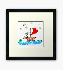 On the Good Ship Hope Framed Print