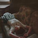 Dreamy Girl On Sofa by MadliArt