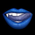 VAMPIRE LIPS - BLUE (2) by Adamzworld