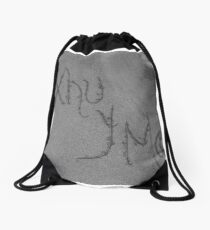lines in the sand Drawstring Bag