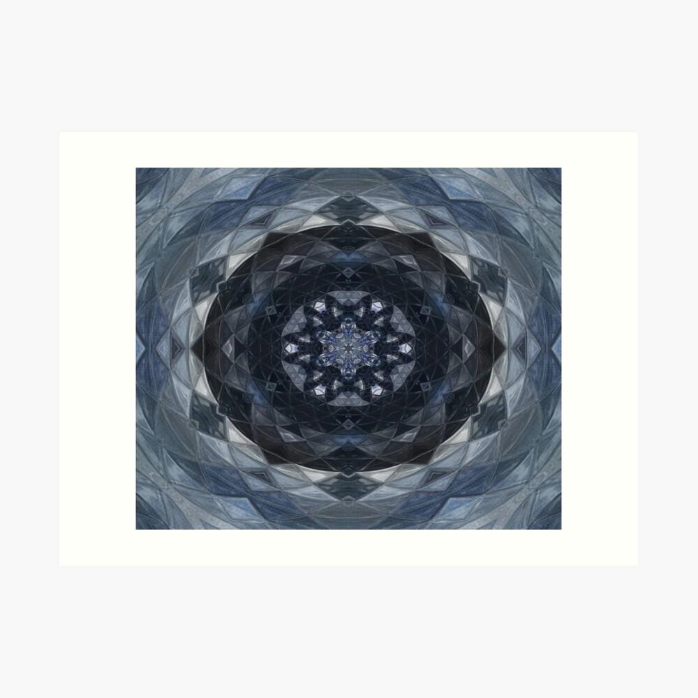 Feeling Blue Kaleidoscope Art Print