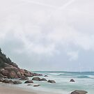 Blue Beach by MadliArt