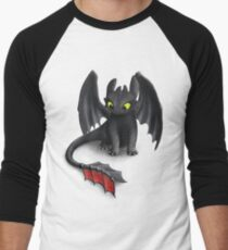 Toothless, Night Fury Inspired Dragon. Men's Baseball ¾ T-Shirt