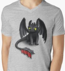 Toothless, Night Fury Inspired Dragon. Men's V-Neck T-Shirt