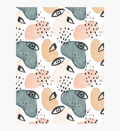 Painterly Eyes Pattern #redbubble   Photographic Print