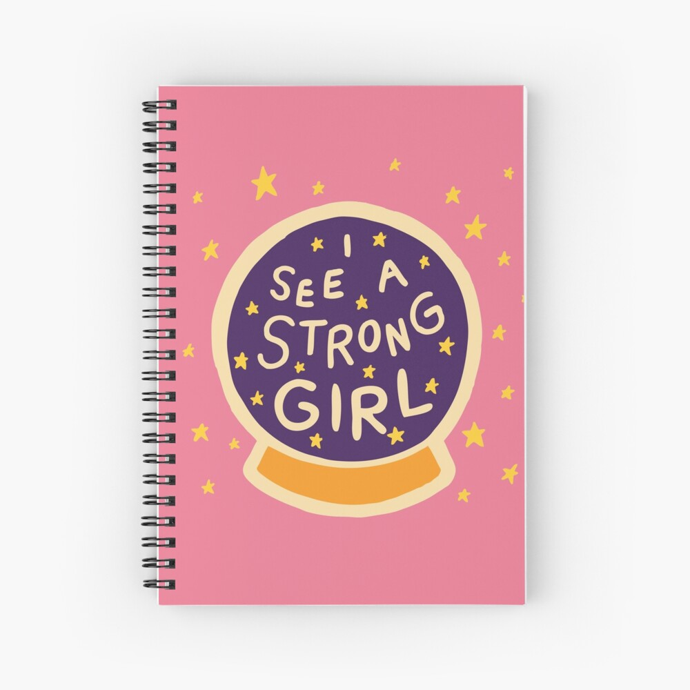I See A Strong Girl Spiral Notebook