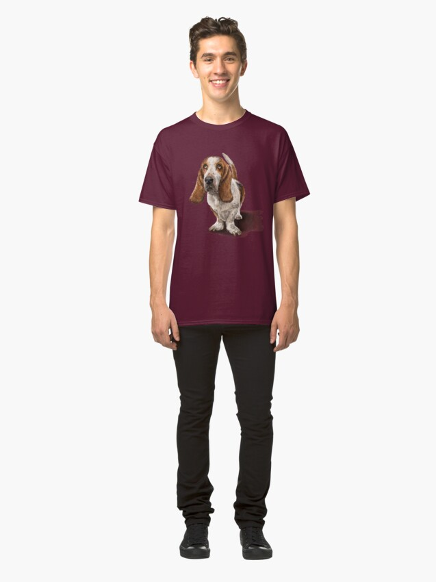 Alternate view of The Basset Hound Dog Classic T-Shirt