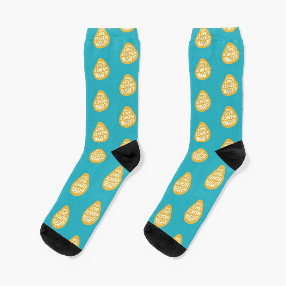 Peace, Love & Chicken Nuggets Socks