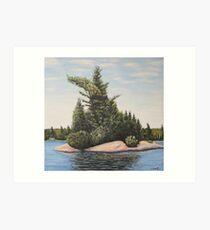 The Island - Muskoka Ontario (c) Ian Ridpath Art Print