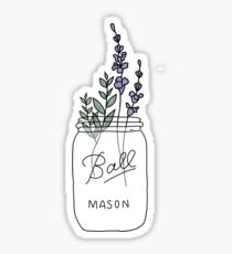 Aesthetic Mason Jar Sticker Sticker