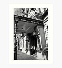 The Windsor Hotel Doorman - Melbourne Art Print
