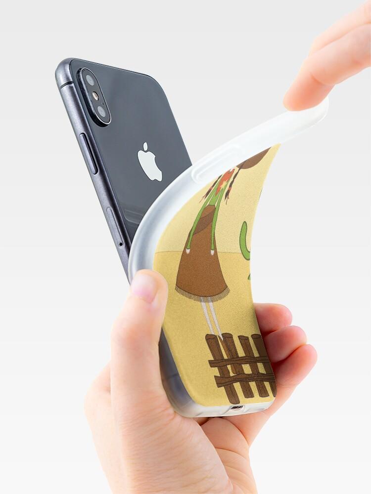 Vista alternativa de Funda y vinilo para iPhone Celeste, la Vaquera del Oeste